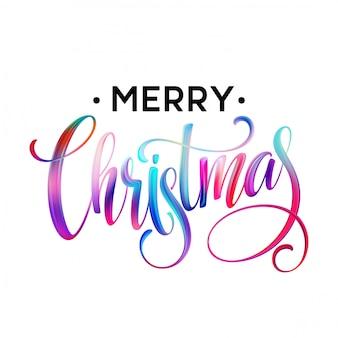 Рождественская каллиграфия, почерк, надписи, мазки масляными или акриловыми красками.