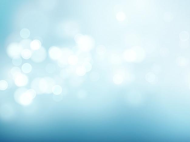 抽象的な青い円形のボケ味の背景。ベクトルイラスト