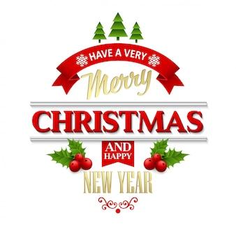 Рождественские наклейки, эмблемы, декоративные элементы, открытки