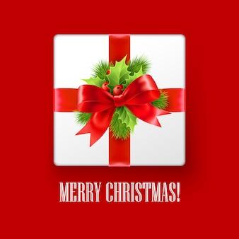 クリスマスの装飾、グリーティングカード付きギフトボックス