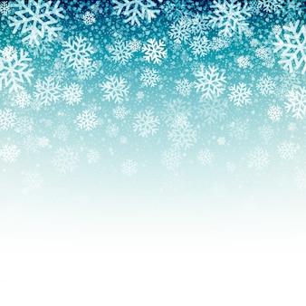 雪の青色の背景