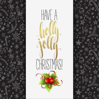 ホリージョリークリスマス、グリーティングカードを持っています。