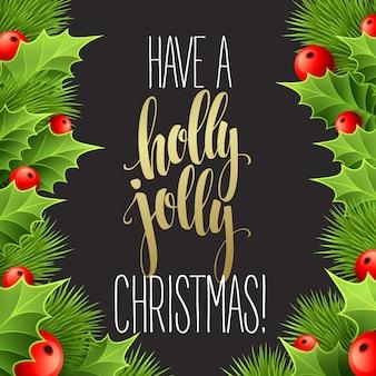 チョークボード、グリーティングカードのクリスマスデコレーション