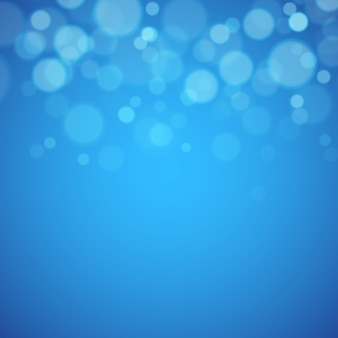 多重ライトと青い背景