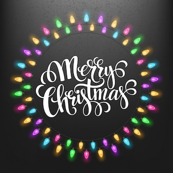 Рождественские огни рамки с, открытка