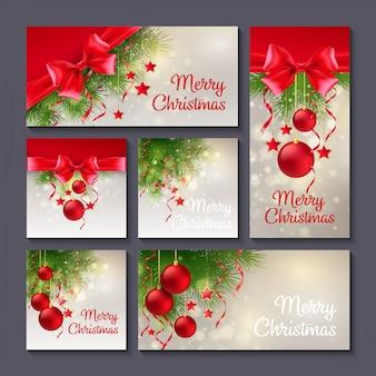 クリスマスカードまたはバナーセットのセット