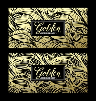 豪華な黄金のモダンなカード