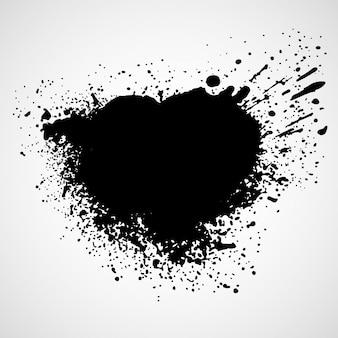 Краска пятна на черном фоне пятно
