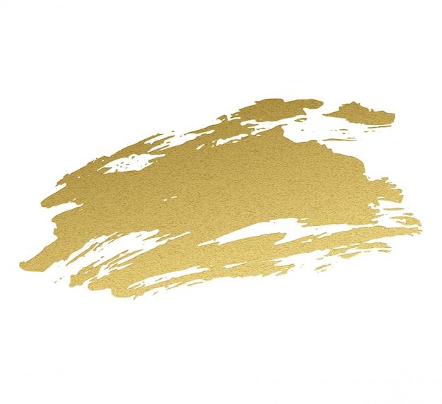 金色のアクリル塗料