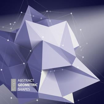 抽象的な三角形スペース低ポリ。