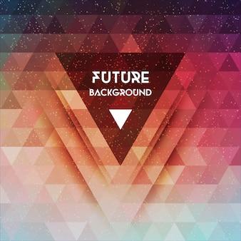 抽象的な三角形の未来のベクトルの背景