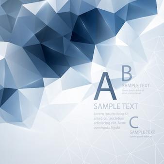 Низкополигональная треугольная фон.