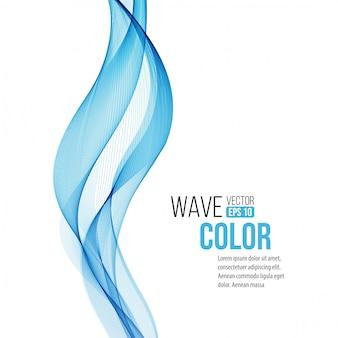 Абстрактный фон с синей волной