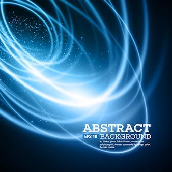 Абстрактный синий световой эффект фон