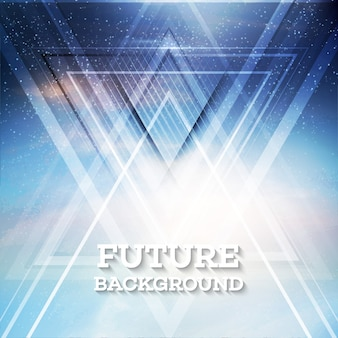 Абстрактный фон вектор будущего треугольника