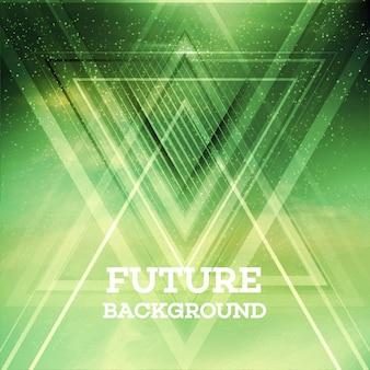 抽象的な三角形の将来のベクトルの背景