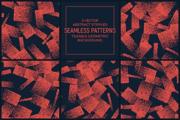点線のオレンジ色の抽象的なシームレスパターンセット