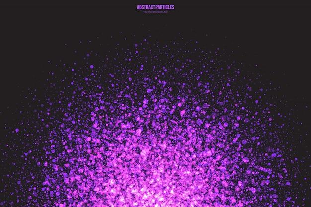 Фиолетовый переливающийся светящиеся частицы абстрактный фон
