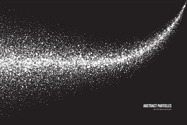 Белый мерцающий светящиеся частицы абстрактный фон
