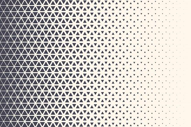 ハーフトーン三角形パターン技術の抽象的な幾何学的な背景