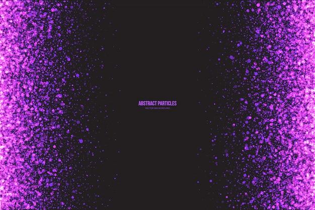 キラキラ紫粒子抽象的なベクトルの背景