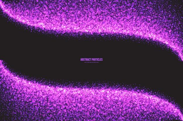紫色のキラキラ輝く丸い粒子のベクトルの背景