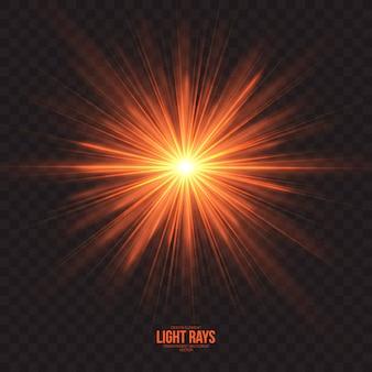 Абстрактные световые лучи эффект векторный фон