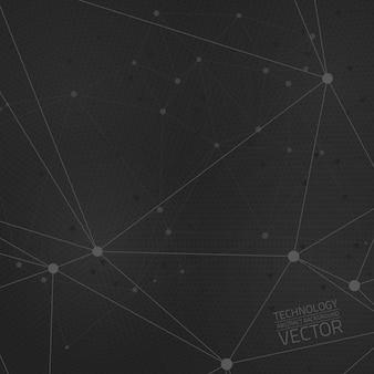 技術接続抽象的なベクトルの背景