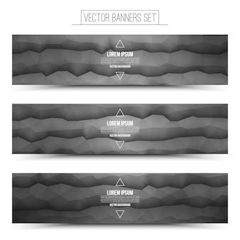 Векторные абстрактные технологии веб-баннеры