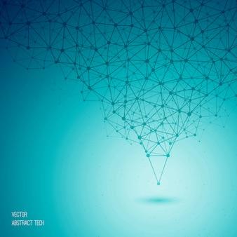 Вектор синий абстрактный технологический фон