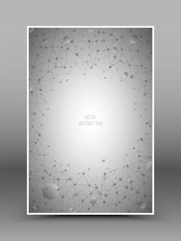 抽象的な接続技術のベクトルの背景