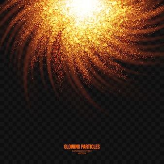 抽象的な明るい爆発効果透明ベクトル