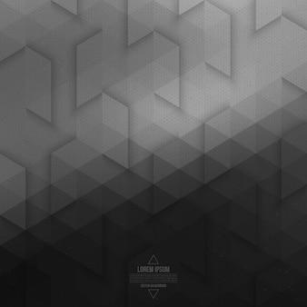 Абстрактный вектор серый геометрический фон технологии