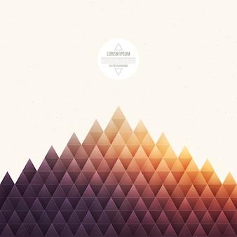 抽象的な幾何学的三角形のベクトルの背景