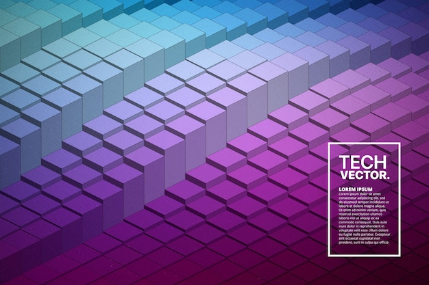 抽象的なベクトル技術波形カラフルな明るい背景。
