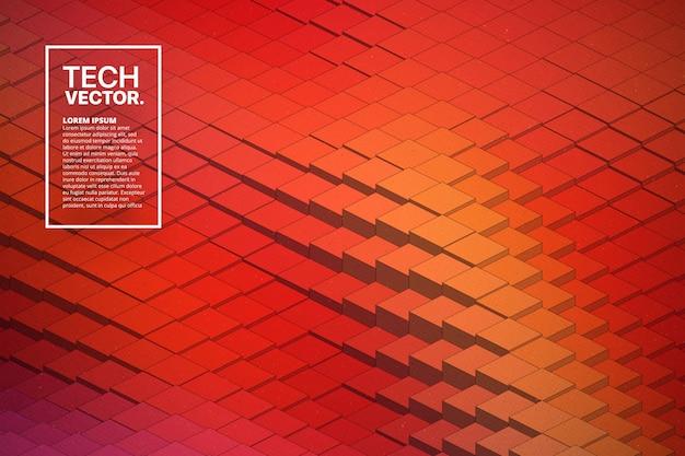 Абстрактные векторные технологические формы волны красочный яркий фон.