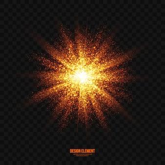 抽象的な明るい爆発効果の透明なベクトル