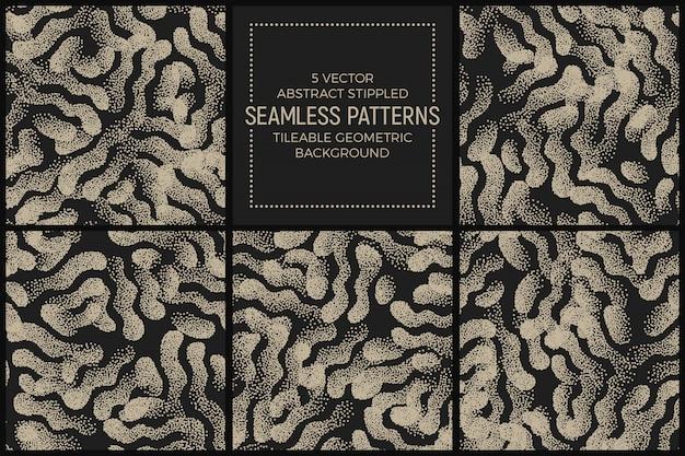 抽象的な点描シームレスパターンベクトルを設定