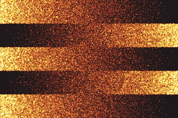 ゴールデンキラキラ輝く粒子のベクトルの背景