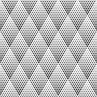 幾何学的なハーフトーンのシームレスパターンベクトル