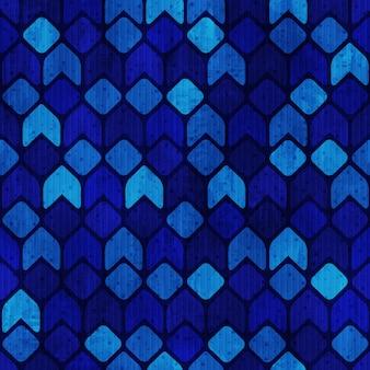 青いファンキーなレトロなシームレスパターンベクトル
