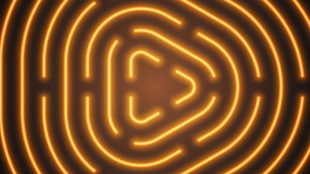 ネオンオレンジ色の照明ライン