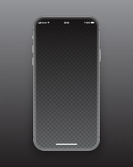 フレームレススマートフォン画面のモックアップ