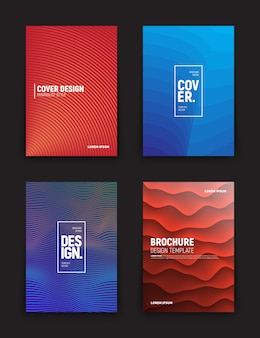 パンフレットデザインの異なるテンプレート