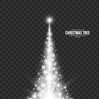 抽象的なクリスマスツリーの透明な背景