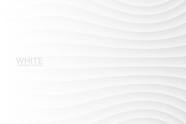 Белый волнистый абстрактный фон