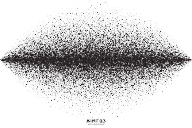 Частицы черного пепла абстрактный фон