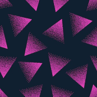 ピンクの抽象的な点描シームレスパターン