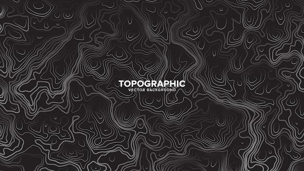 Контурная карта топографическая абстрактный фон