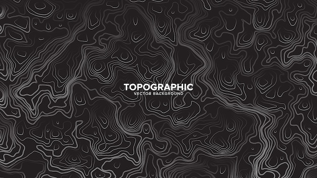 地形等高線地図の抽象的な背景